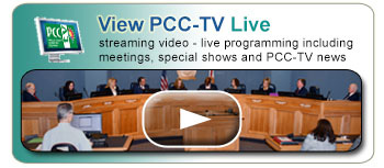 View PCC-TV Live - streaming video - live programming including meetings, special shows and PCC-TV news